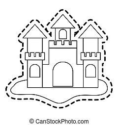 piasek zamek, wizerunek, ikona