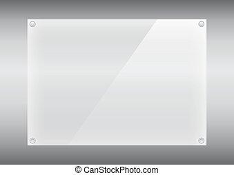 piastra, 10, testo, eps, illustrazione, vetro, vettore, fondo, chiodi