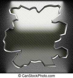 piastra, acciaio, carbonio
