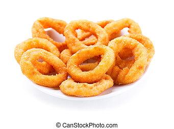piastra, anelli, cipolla