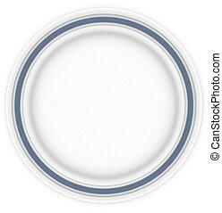 piastra blu, panino