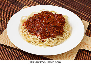 piastra, bolognese, spaghetti