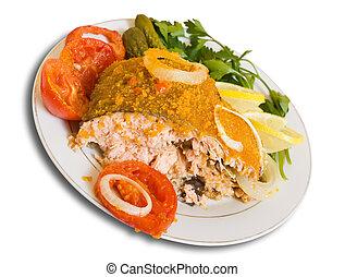 piastra, fish, imbottito