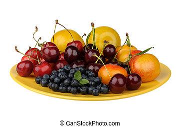piastra, frutta