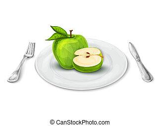 piastra, mela