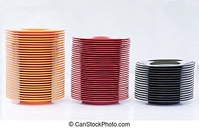 piastra, melamine, black/red/orange, pila