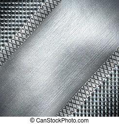 piastra metallo, acciaio, fondo.