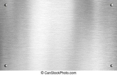 piastra, metallo, chiodi, struttura