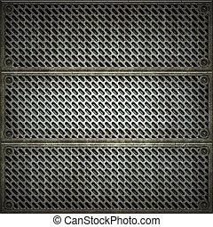 piastra., metallo, struttura