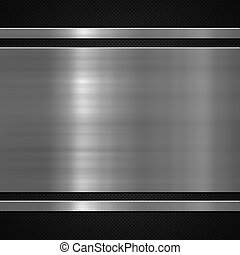 piastra metallo, su, carbonio, fondo