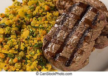 piastra, pancetta affumicata, filetto, mignon, briciole, cotto ferri
