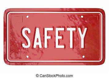 piastra, parola, licenza, guida, abilità, automobile, automobile, sicurezza, veicolo, 3d