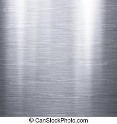 piastra, spazzolato, alluminio, metallico