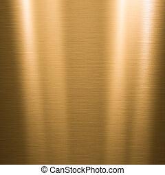piastra, spazzolato, oro, metallico