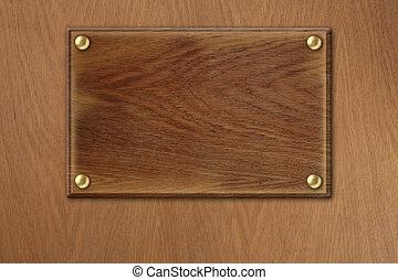 piastra, vecchio, legno, sopra, struttura, legno, fondo