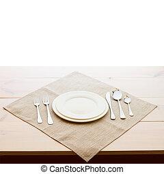 piastre, cena, tableware, forche