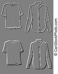 piastre, moda, camicia