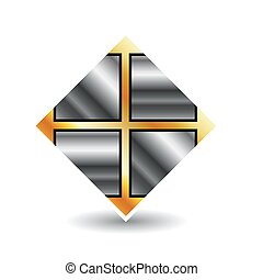 piastrella, logotipo, affari, pavimento