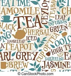 piastrella, tè, seamless