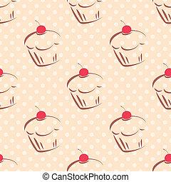 piastrella, torta, punti, vettore, fondo