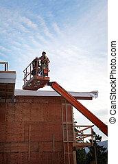 piattaforma, costruzione, idraulico