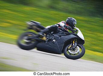 piattaforma girevole, sportbike, motocicletta