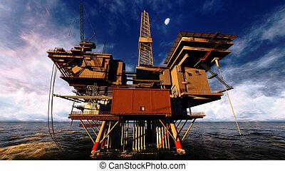 piattaforma, olio