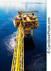 piattaforma, olio, gas