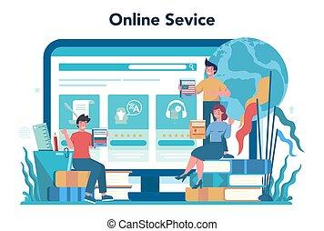 piattaforma, traduzione, o, servizio, translator, linea