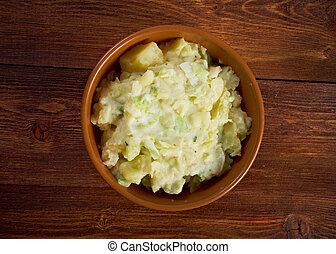 piatto, pietanza, colcannon, patata