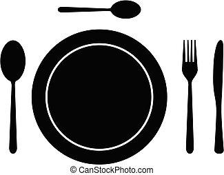 piatto, pietanza, coltelleria