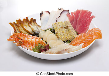 piatto, pietanza, fatto, sashimi