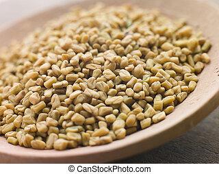 piatto, pietanza, fenugreek, semi