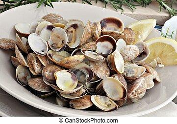 piatto, pietanza, mollusco