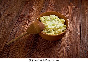 piatto, pietanza, patata, colcannon