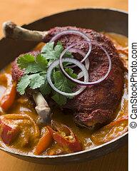 piatto, pietanza, pollo, makhani