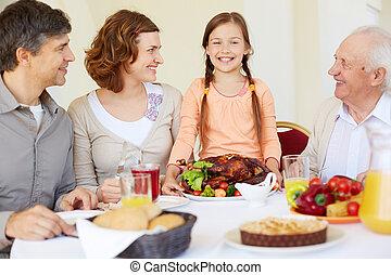 piatto, pietanza, ringraziamento