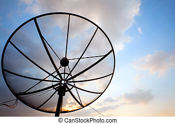 piatto, pietanza, satellite, telecomunicazione