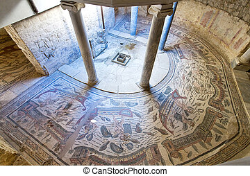 Piazza Armerina - Mosaics in Villa Romana del Casale, Piazza...