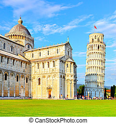 Piazza dei Miracoli in Pisa with the Basilica and the...