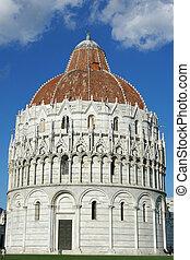 Piazza dei miracoli, with the Basilica, Italy, Pisa