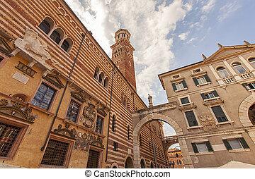 Piazza dei Signori in Verona in Italy 3