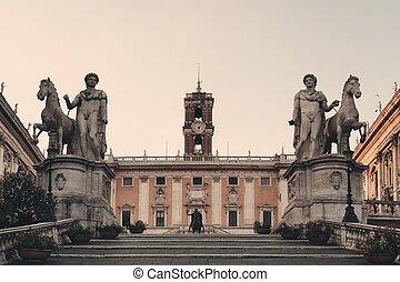 Piazza del Campidoglio in Rome, Italy.