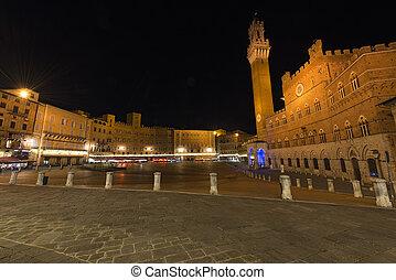 Piazza del Campo by Night - Siena Italy