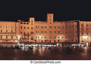 Piazza del Campo Siena Italy night