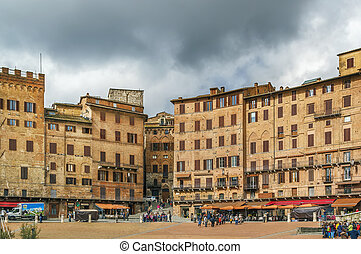 Piazza del Campo, Siena, Italy - Piazza del Campo is the ...