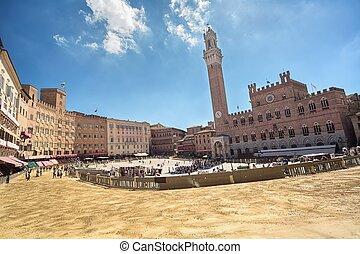 Piazza del Campo Siena,Tuscany,Italy - Piazza del Campo in...