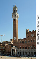 piazza del campo where he plays the famous palio di siena
