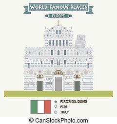 Piazza del Duomo, Pisa. Italy