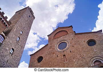 Piazza del Duomo, San Gimignano, Tuscany, Italy